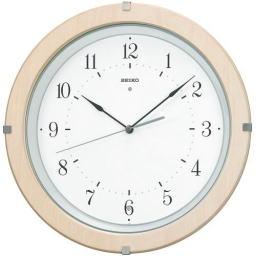 電波掛け時計 定番人気のナチュラルカラー 黒 木目 掛け時計 タカラ堂時計店